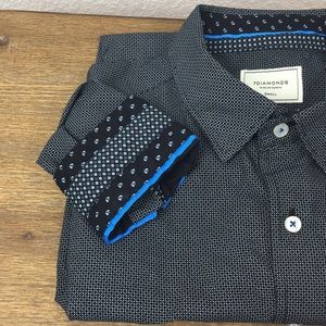 7 Diamonds Black And Blue Micro Print S